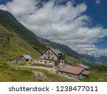 franz senn hutte  2 147 m asl ... | Shutterstock . vector #1238477011