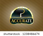 gold badge with sickle icon... | Shutterstock .eps vector #1238486674