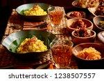 nasi kuning. traditional...   Shutterstock . vector #1238507557