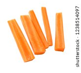 carrot sticks isolated | Shutterstock . vector #1238514097