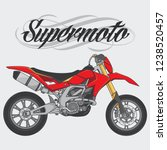 design vector supermoto racing... | Shutterstock .eps vector #1238520457
