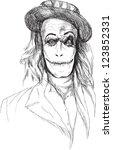 seamed  mickey  little zombie ...   Shutterstock .eps vector #123852331
