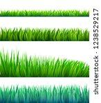 cartoon vector grass | Shutterstock .eps vector #1238529217