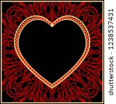 valentine's day pattern with... | Shutterstock .eps vector #1238537431