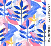 abstract seamless pattern of... | Shutterstock .eps vector #1238543017