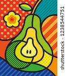 modern pop art pear... | Shutterstock .eps vector #1238544751