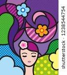 pop art illustration for your... | Shutterstock .eps vector #1238544754