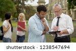 math teacher explaining... | Shutterstock . vector #1238547694