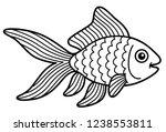 Vector Cartoon Cute Gold Fish...
