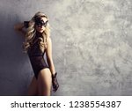 sexy fashion model posing in... | Shutterstock . vector #1238554387