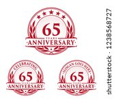 65 years anniversary set. 65th... | Shutterstock .eps vector #1238568727