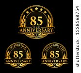 85 years anniversary set. 85th... | Shutterstock .eps vector #1238568754