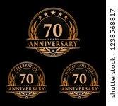 70 years anniversary set. 70th... | Shutterstock .eps vector #1238568817