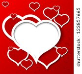 vector love background with... | Shutterstock .eps vector #123857665