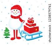 christmas card vector... | Shutterstock .eps vector #1238579761