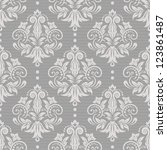 damask seamless pattern for... | Shutterstock .eps vector #123861487
