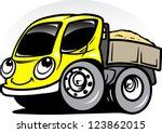 cartoon truck | Shutterstock .eps vector #123862015