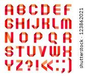 spectral letters folded of... | Shutterstock .eps vector #123862021