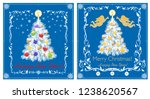 paper retro greeting cards for... | Shutterstock .eps vector #1238620567