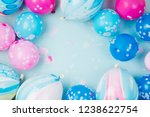 colorful balloons on pastel...   Shutterstock . vector #1238622754