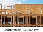 new building construction | Shutterstock . vector #123864199