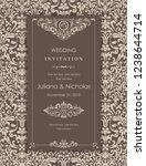 wedding invitation cards ... | Shutterstock .eps vector #1238644714