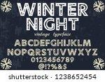 classic vintage decorative font ... | Shutterstock .eps vector #1238652454