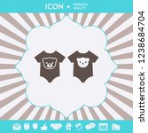baby rompers icon. graphic... | Shutterstock .eps vector #1238684704