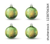 olive green colored christmas... | Shutterstock .eps vector #1238706364
