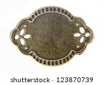 brass brown ornate plate framed ... | Shutterstock . vector #123870739