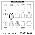 types of men's shirts with... | Shutterstock .eps vector #1238724484