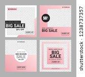 editable instagram fashion... | Shutterstock .eps vector #1238737357