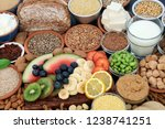 health food for vegans with...   Shutterstock . vector #1238741251