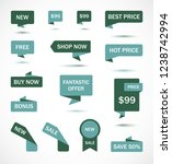 vector stickers  price tag ... | Shutterstock .eps vector #1238742994
