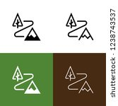 trail icon set | Shutterstock .eps vector #1238743537
