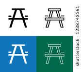picnic table icon set | Shutterstock .eps vector #1238743561