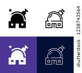 observatory icon set | Shutterstock .eps vector #1238743564