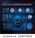 abstract hud interface element. ...   Shutterstock . vector #1238745004