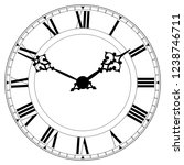 vintage roman numeral clock....   Shutterstock .eps vector #1238746711