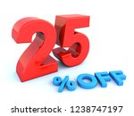 big red glossy 25 percent off... | Shutterstock . vector #1238747197