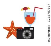 travel and summer elements | Shutterstock .eps vector #1238757937