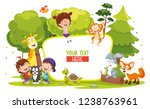 vector illustration of kids and ... | Shutterstock .eps vector #1238763961