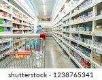 shopping basket in the...   Shutterstock . vector #1238765341