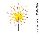 sparkler firework isolated | Shutterstock .eps vector #1238768704