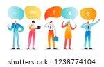 social media network concept....   Shutterstock .eps vector #1238774104