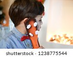 child and guitar. boy wait a... | Shutterstock . vector #1238775544