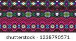 seamless floral pattern folk...   Shutterstock .eps vector #1238790571