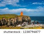 North Atlantic Puffins Sitting...