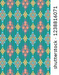 colorful decorative ethnic... | Shutterstock .eps vector #1238816071