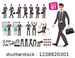 business man vector characters... | Shutterstock .eps vector #1238820301